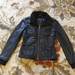 Wool Lined Women's Leather Jacket